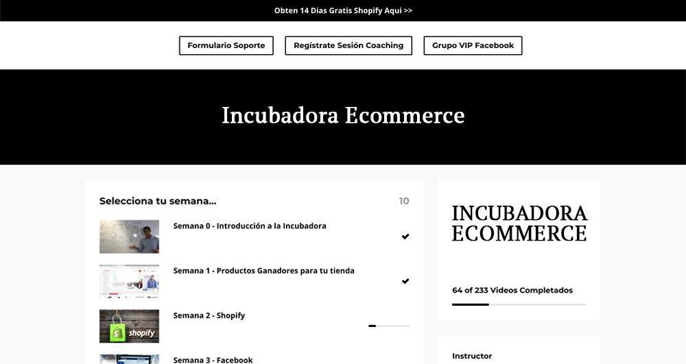 plataforma incubadora ecommerce